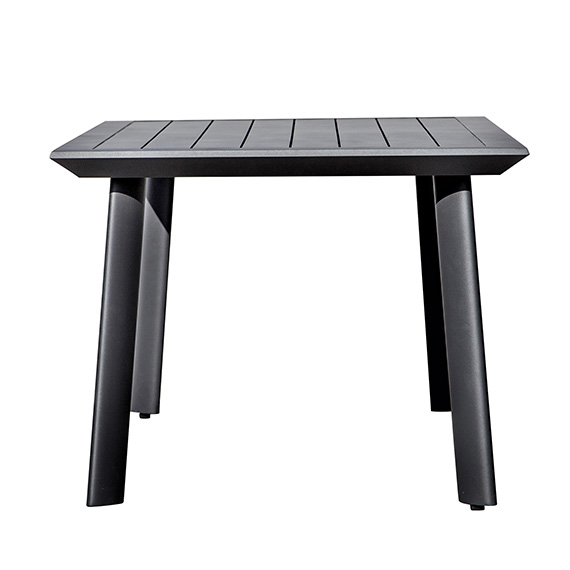 Vienna 43X43 Square Dining Table W/Aluminum Slat Top