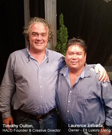 HALO - Founder & Creative Director  with Laurence Estrada, Owner - E9 Luxury Living